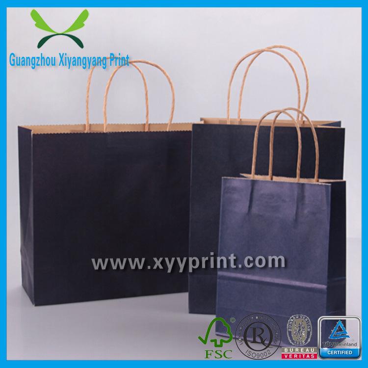 Custom Brown Kraft Paper Shopping Bag with Logo Print Gift Bag