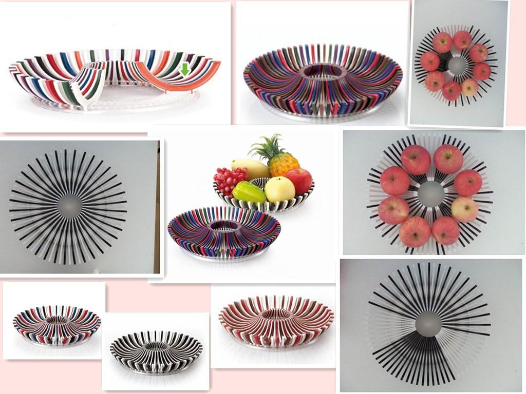 Plastic DIY Vegetable Fruit Dish (VK14004)