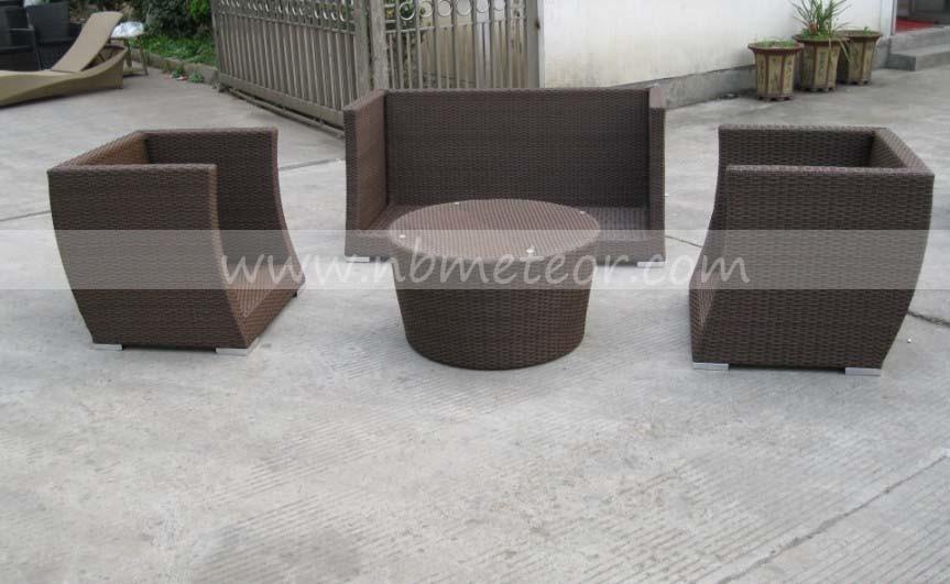 All Weather Wicker Outdoor Furniture Sofa Set PE Rattan Sofa (MTC-287)