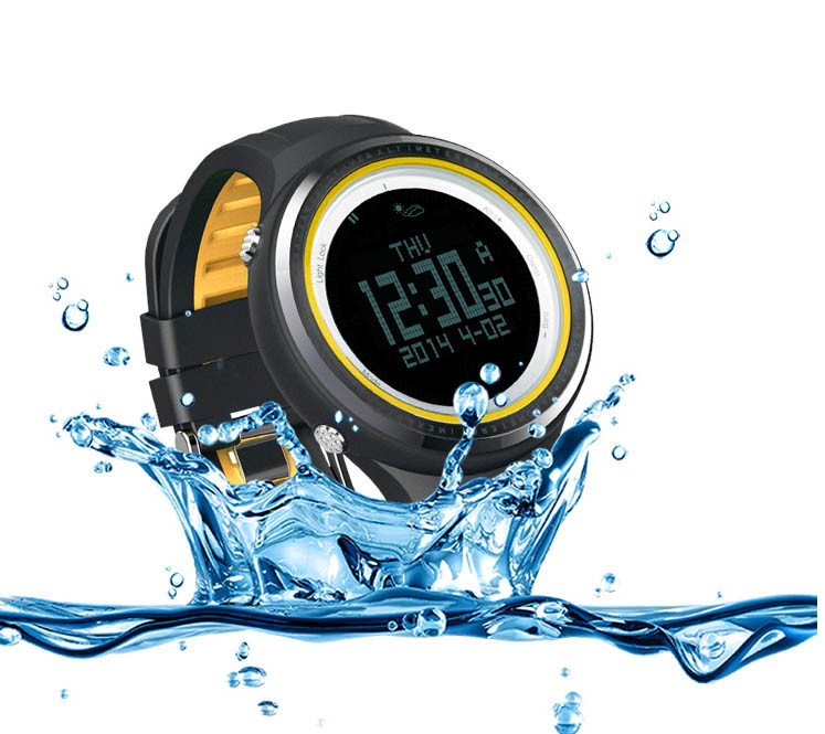 Waterproof Sports Watch for Climbers and Hill Walkers Clock Alarm, Count Down Timer, Stop Watch Robust Sunroad