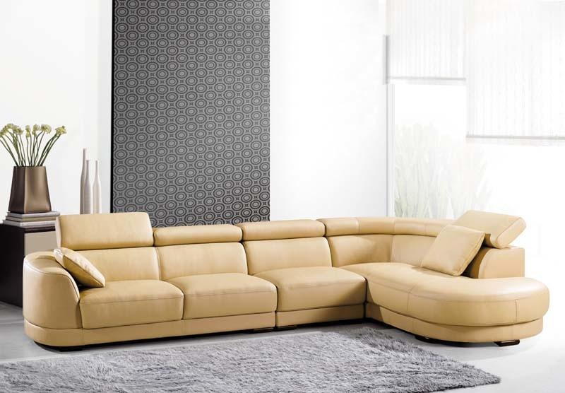 Leather PU Modern Set Corner Sofa Bed (910#)