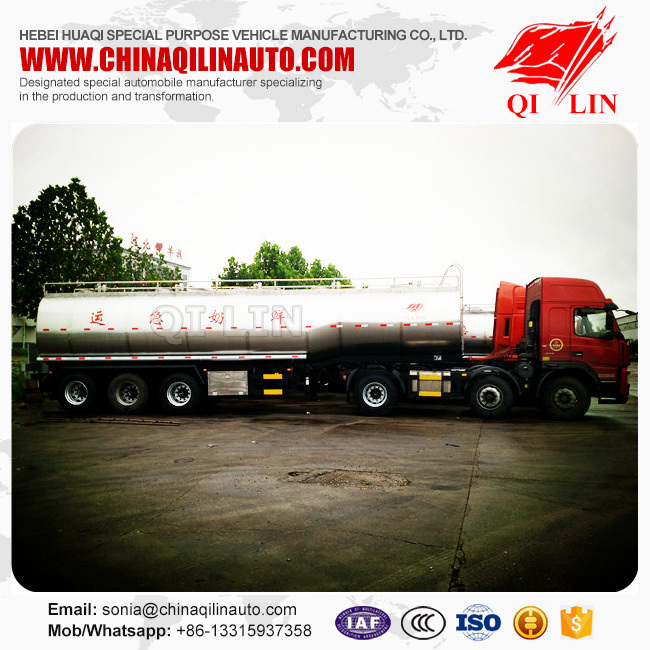30000L Stainless Steel Mixing Milk Tank Trailer for Sale