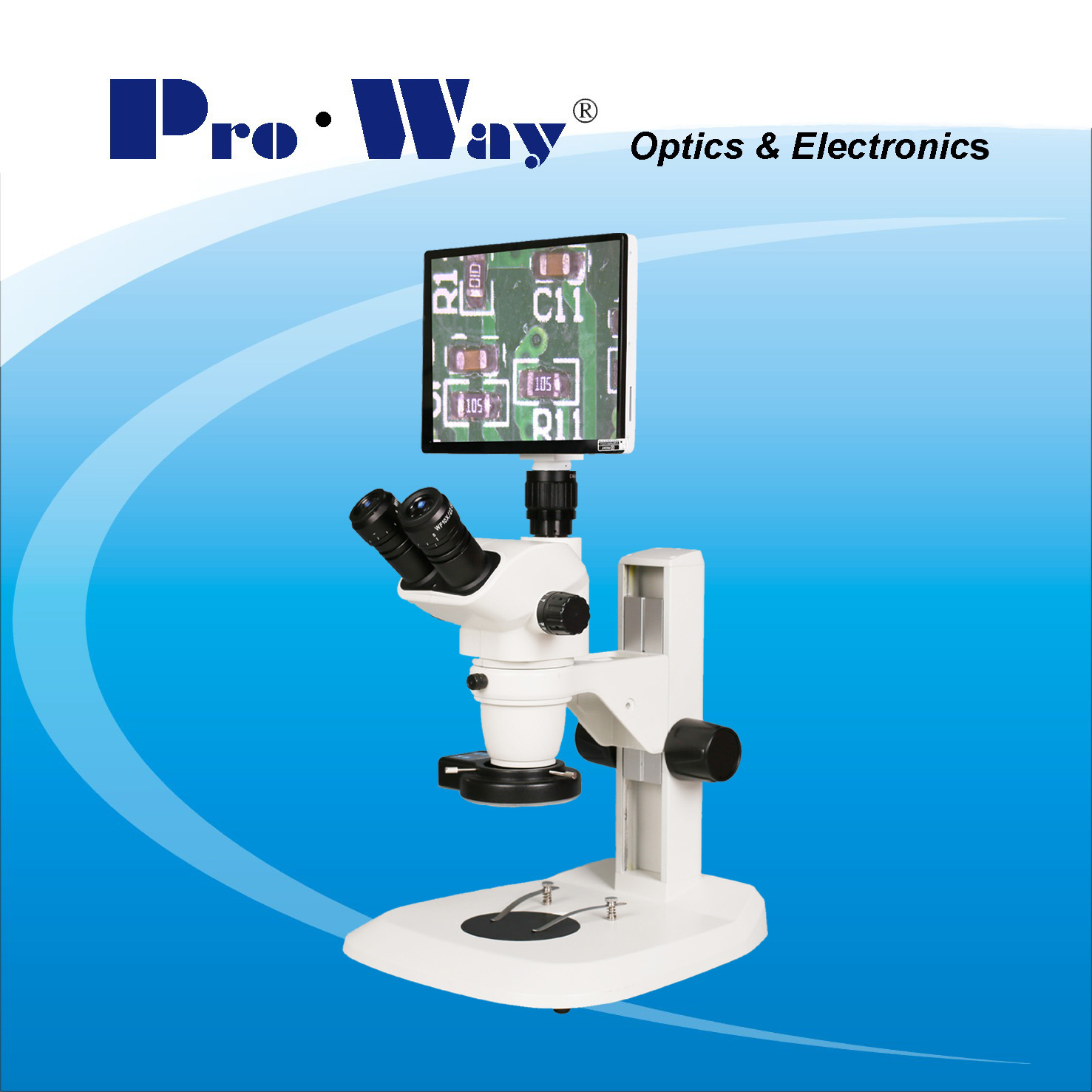 Professional Video Digital LCD Screen Zoom Stereo Microscope (ZTX-PW6745LCD)