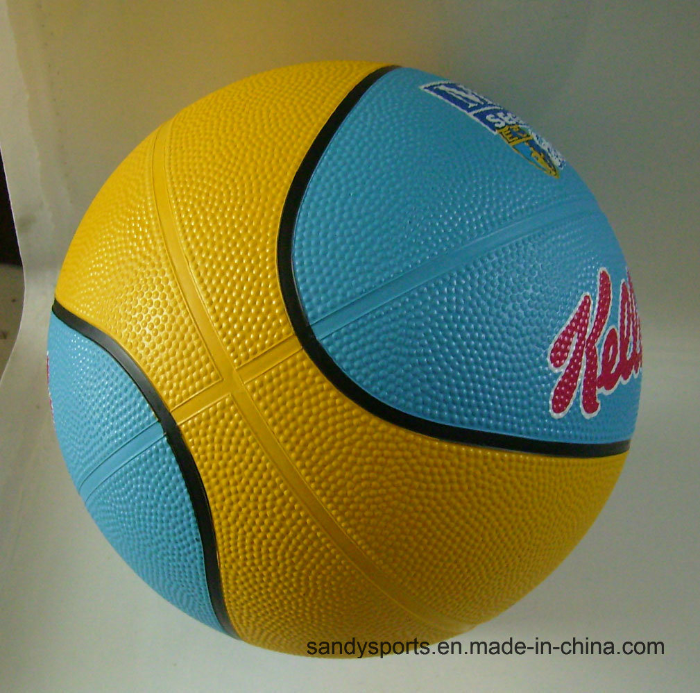 Colorful OEM Logo Size 5 Rubber Basketball