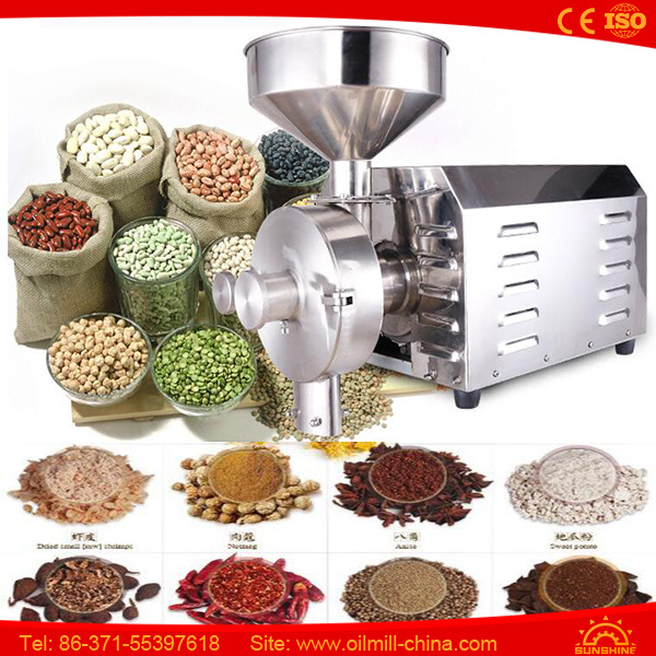 Industrial Coffee Small Spice Dried Moringa Garlic Leaf Grinding Machine