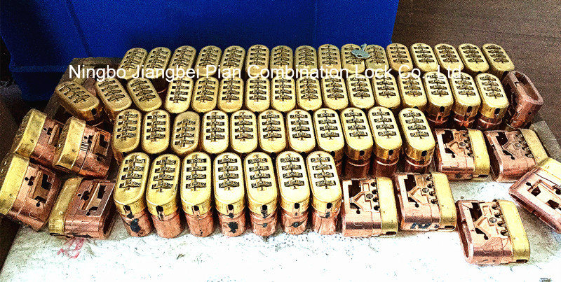 50mm Long Shackle Brass 4 Digital Code Combination Lock