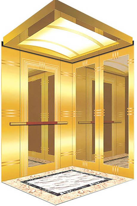 China Passenger Elevator with Hairline Stainless Steel