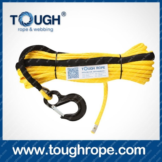 Winch Dyneema Winch Rope (ATV and SUV Trunk Winch) 4.5mm-20mm with Softy Eyelet G80 Hook, Mounting Lug, Lug, Thimble