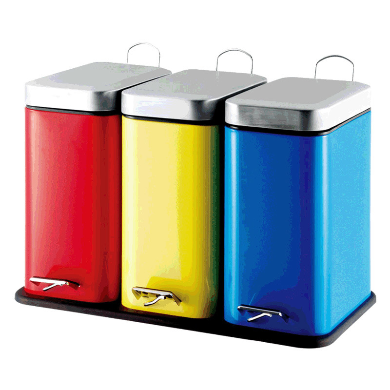 15L Color Rectangle Shape Dustbin for Home