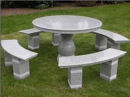 China Granite Furniture Outdoor Stone Tables and Benches