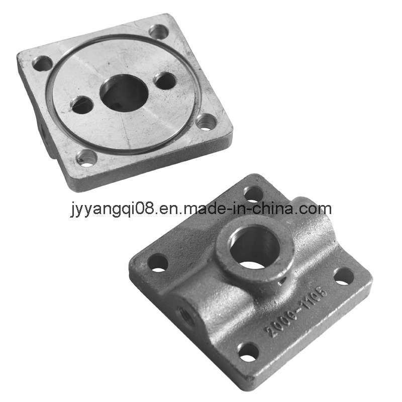 Cast iron pivot end rear cap of cylinder machining china