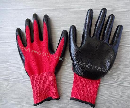 Natrile Coated Glove Labor Protective Safety Work Gloves (N7003)