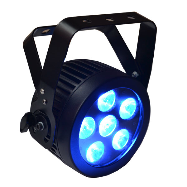 6X12W RGBWA UV Slim LED PAR Can Stage Light with Die Cast Aluminum Housing for Disco, Video, Movie, TV Studio