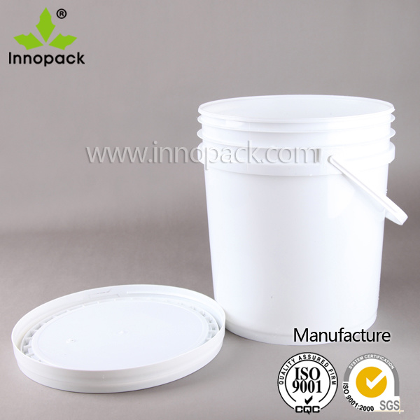 5 Gallon 20L Plastic Paint Bucket for Coating, Limestone Powder