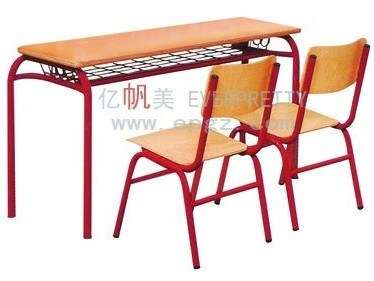 High Quality School Double Desk and Chair Furniture for Students