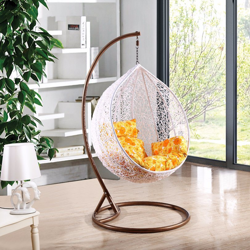 Modern Leisure Wicker Furniture Hanging Chair with Round Rattan (J811)