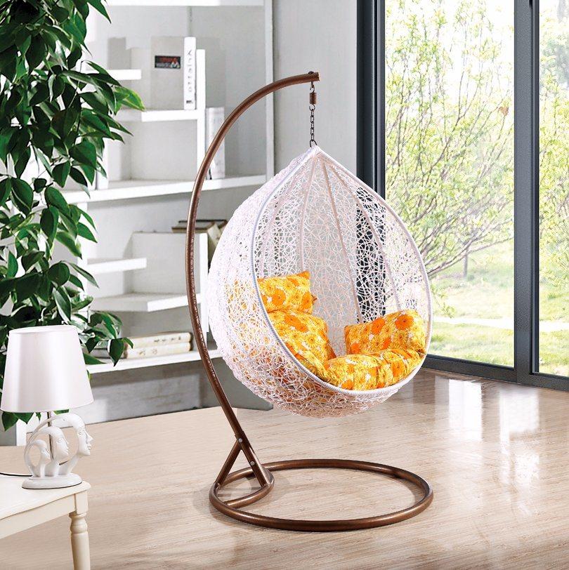 Modern Leisure Wicker Patio Outdoor Home Office Hotel Dia5.0mm Wicker Hanging Chair (J811)