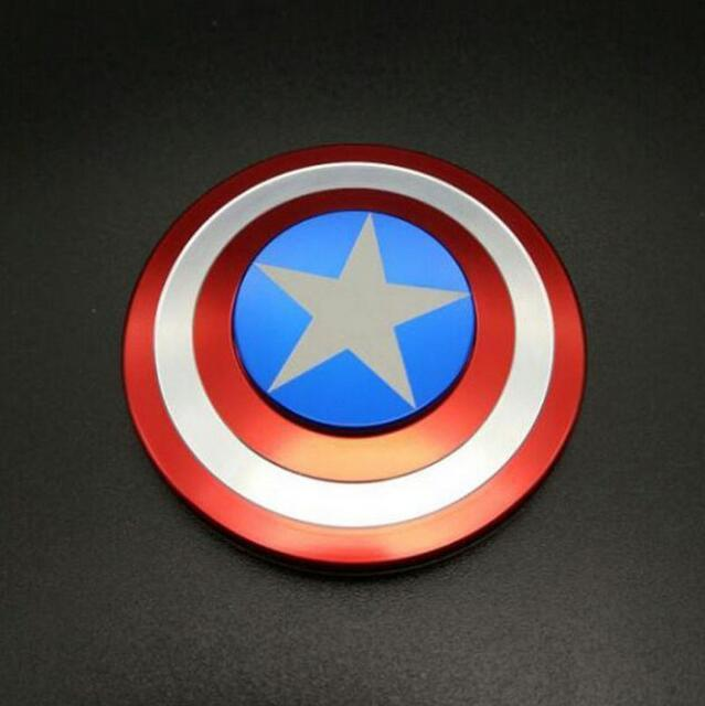 Creative Captain America Shield Hand Spinner Iron Man Fidget Alloy Puzzle Fidget Spinner EDC Autism Adhd
