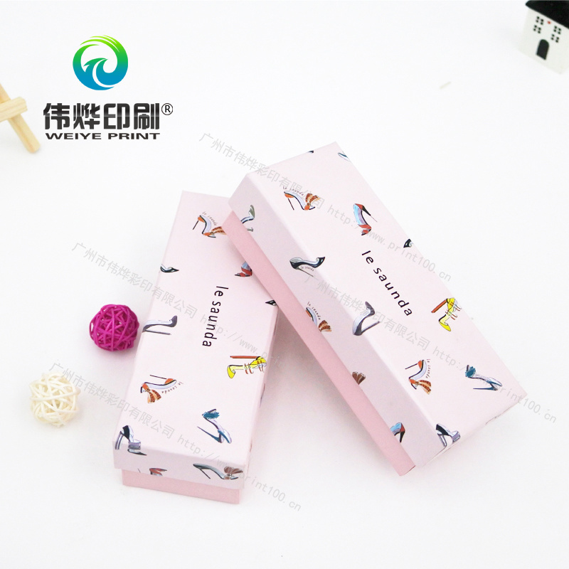 Pink Offset Printing Paper Gift Box Packaging (with Lid)