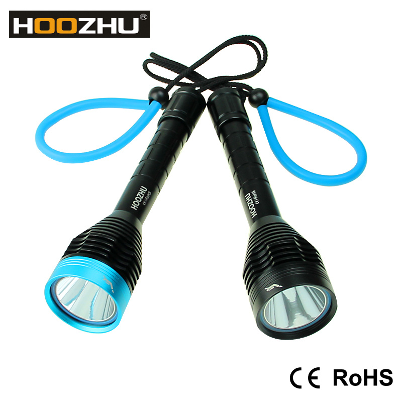 Hoozhu D11 Diving Light 4mm Clear PC with Waterproof 100m