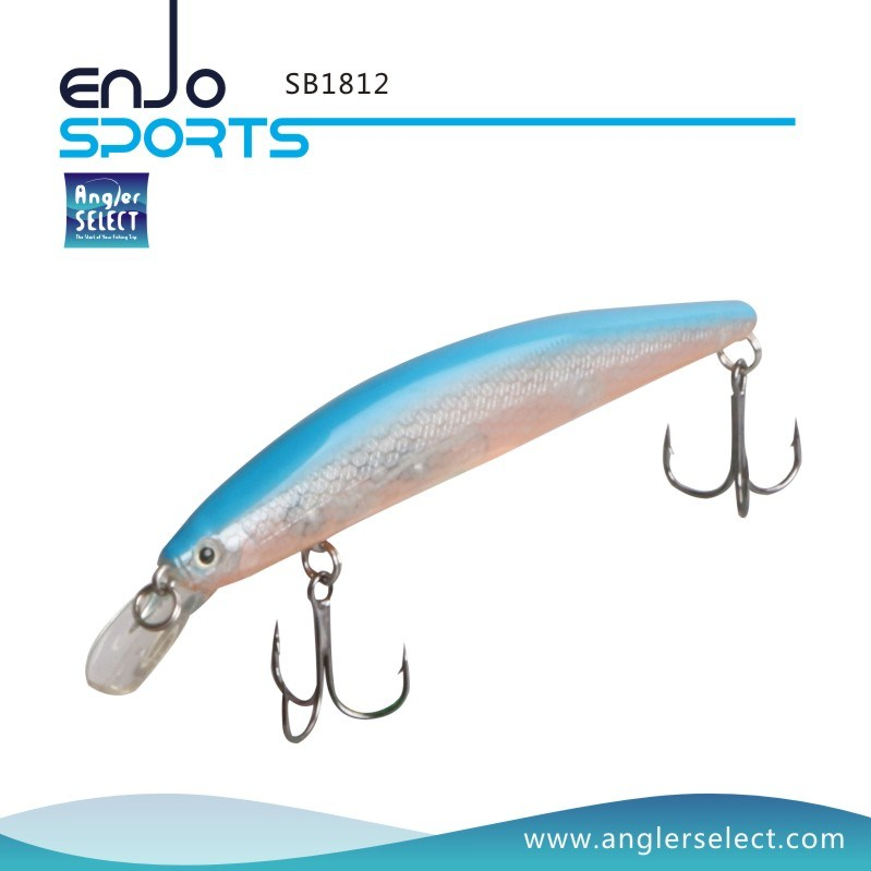 Shallow Diving Hard Plastic Minnow Stick Bait Saltwater Freshwater Fishing Tackle Lure (SB1812)