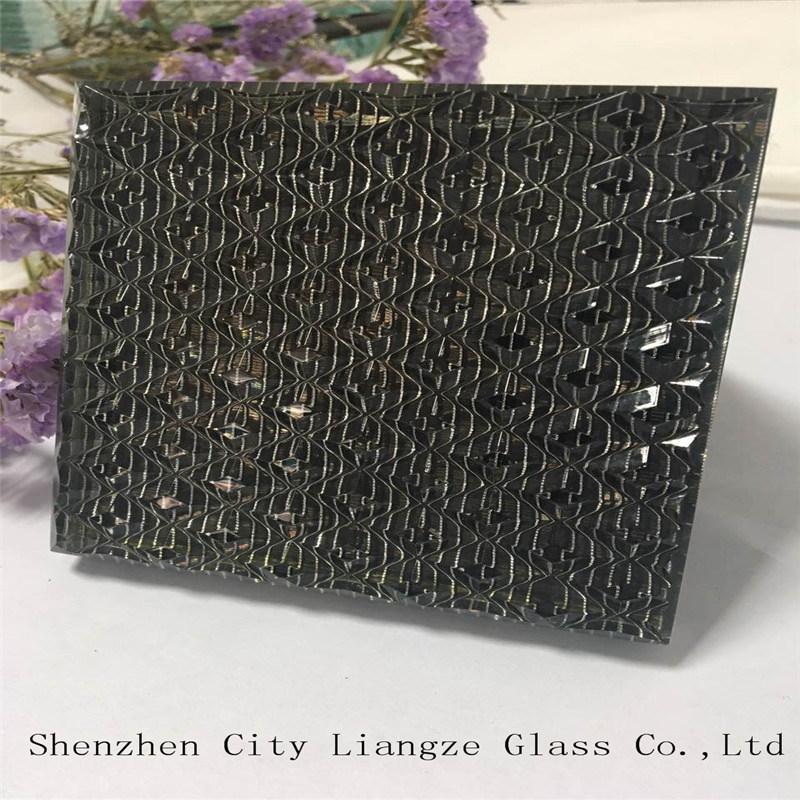 10mm+Silk+5mm Black-Mirror Glass Customized Art Glass for Decoration