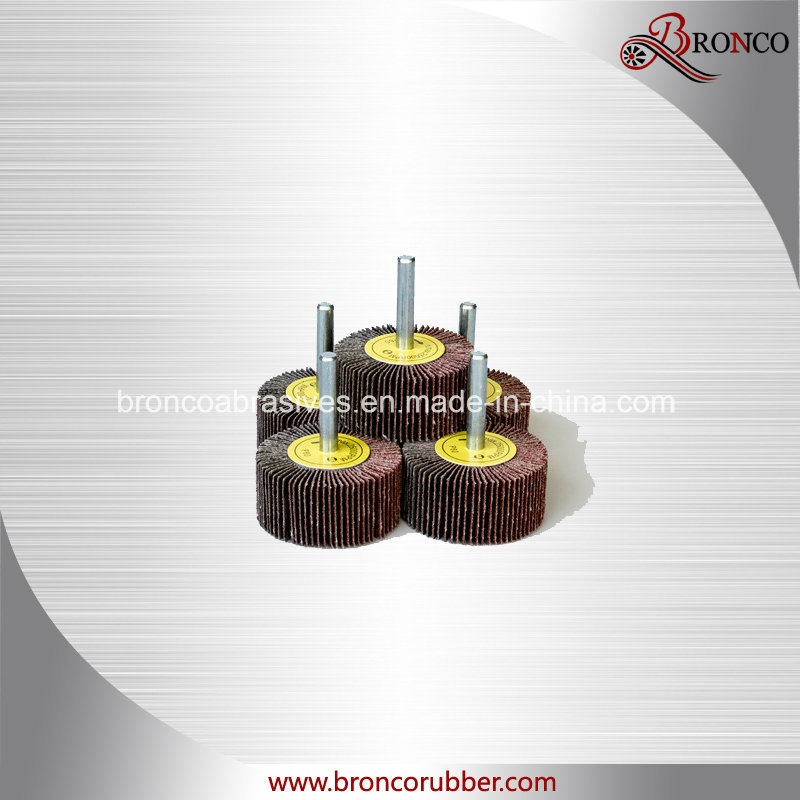 Shaft-Mounted Aluminum Oxide Flap Wheel