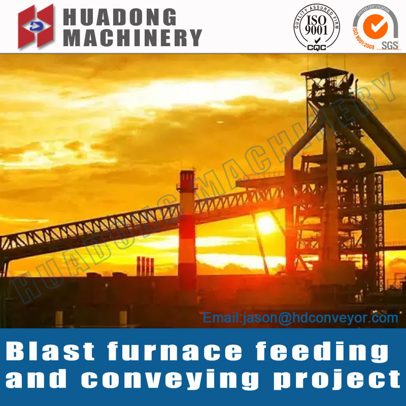Raw Material Conveyor for Large Steel Plant