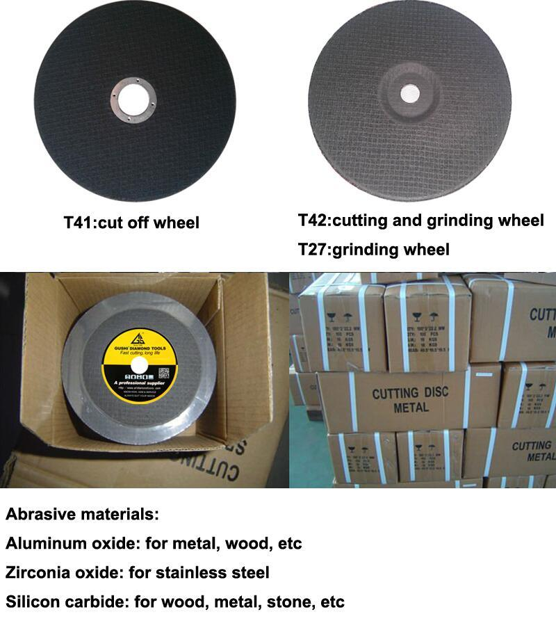 Aluminum Zirconia Silicon Carbide Resin Bond Grinding Wheel Cutting Disc