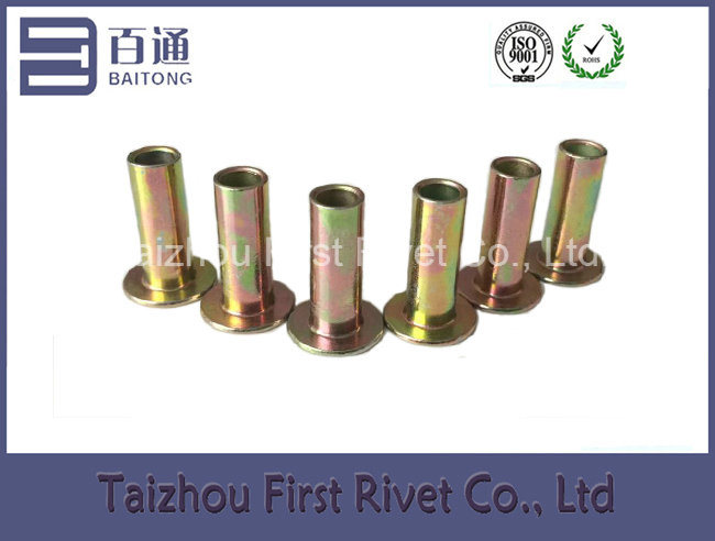 8X22mm Zinc Plated Flat Head Full Tubular Steel Rivet