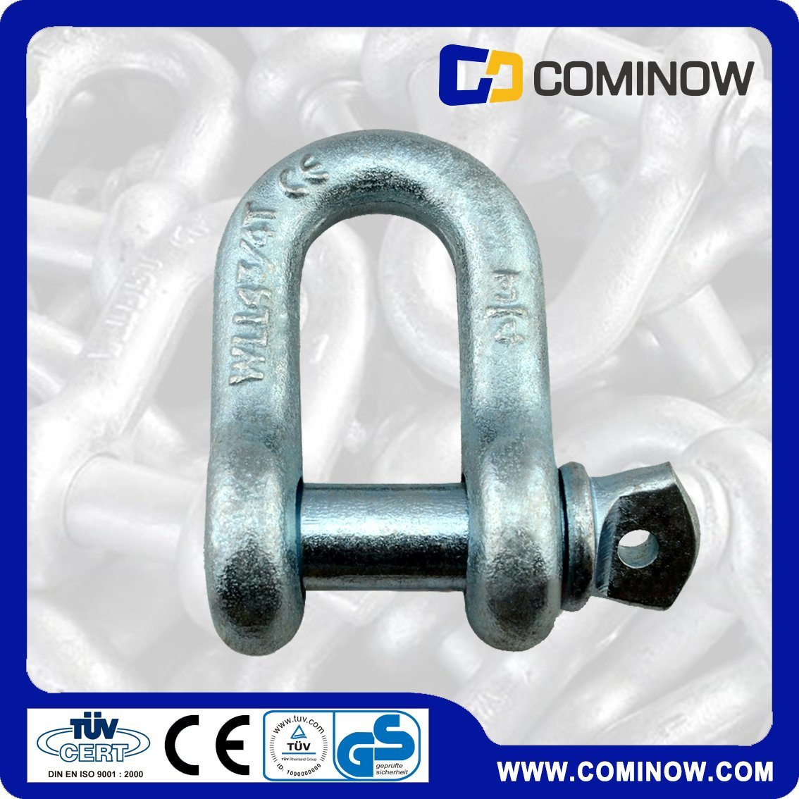 Us Type G210 Screw Pin Anchor Shackle / Us Type Dee Shackle / High Tension Dee Shackle