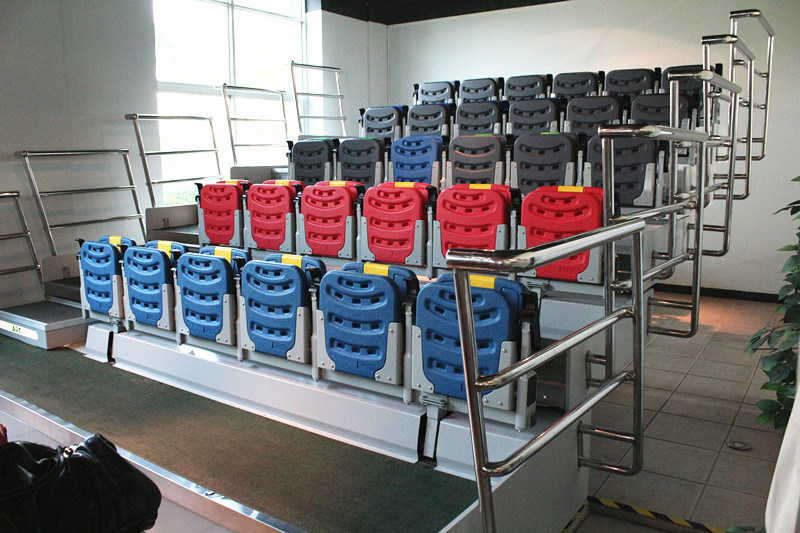 Indoor Space Saving Retractable Tribune Seats for Sale, Telescopic Bleacher System