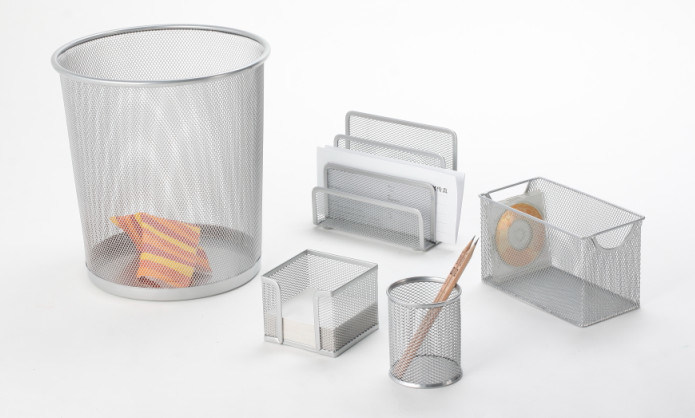 Contemporary Desk Sets/ Metal Mesh Stationery Office Set/ Office Desk Accessories