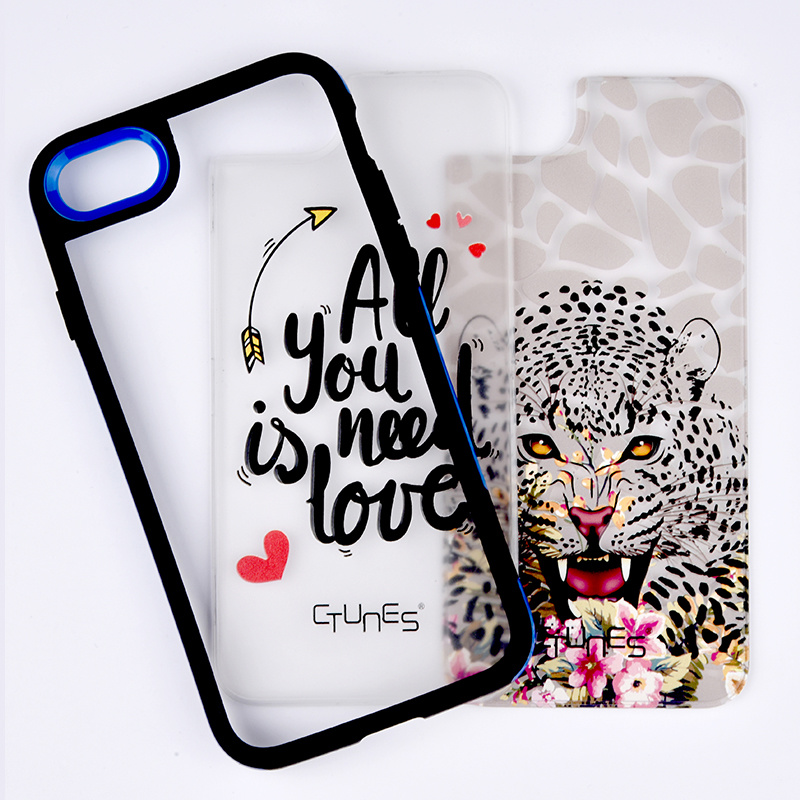 C&T Creative Pattern design Case Cover Detachable Hybrid Hard PC Panel and Soft TPU Bumper Case for Apple iPhone 7