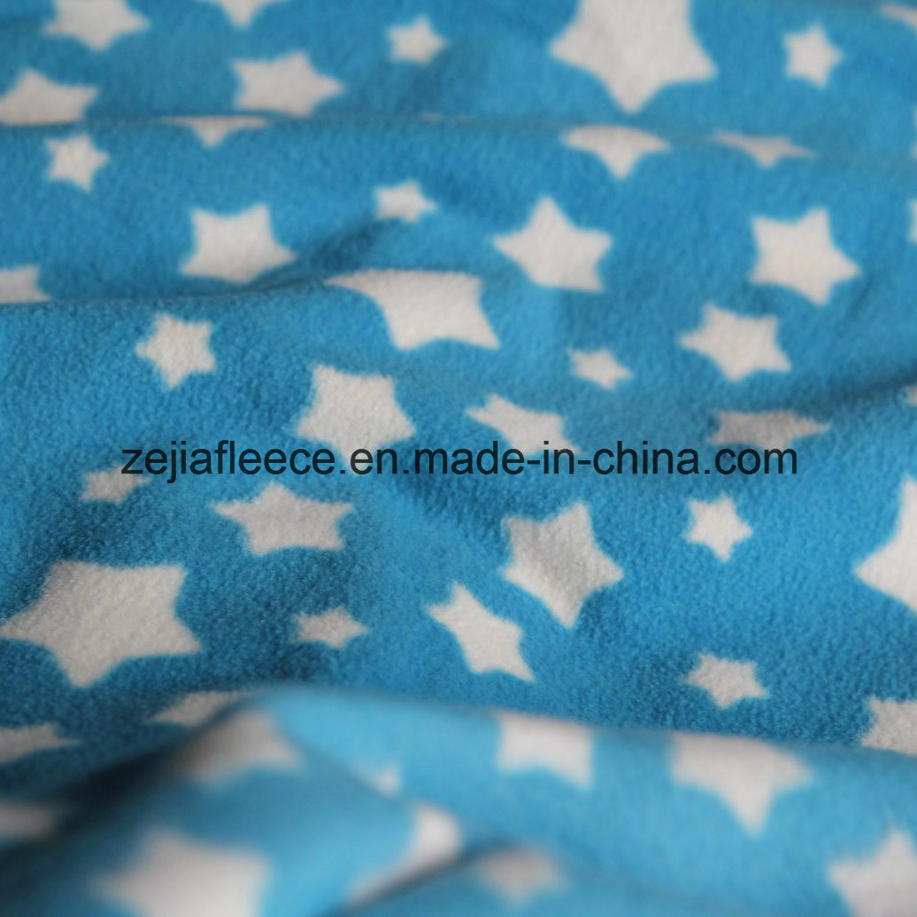 Print Micro Fleece Fabric with Antipilling