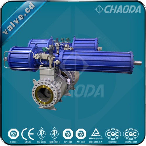 Chaoda Brand Flanged Lock Hopper Ball Valve