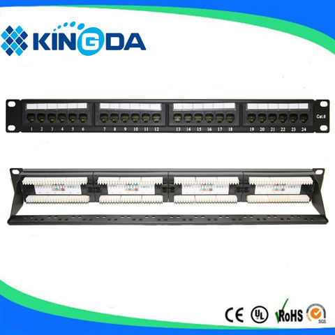 UTP Cat5e cat. 5e Patch Panel 24 Ports 1u