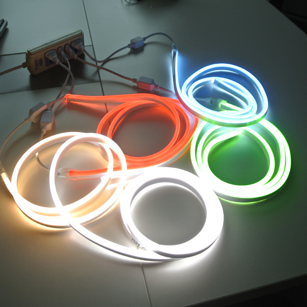 220V/110V/24V/12V SMD2835 Warm White/White RGB Flex LED Neon Sign