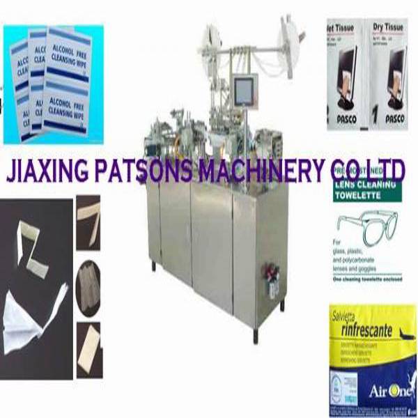 Four Side Sealing Alcohol Wet Tissue Making Machine