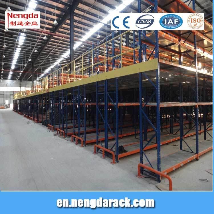 Multi-Level Shelf Warehouse Storage Racking with Mazzanine Floor
