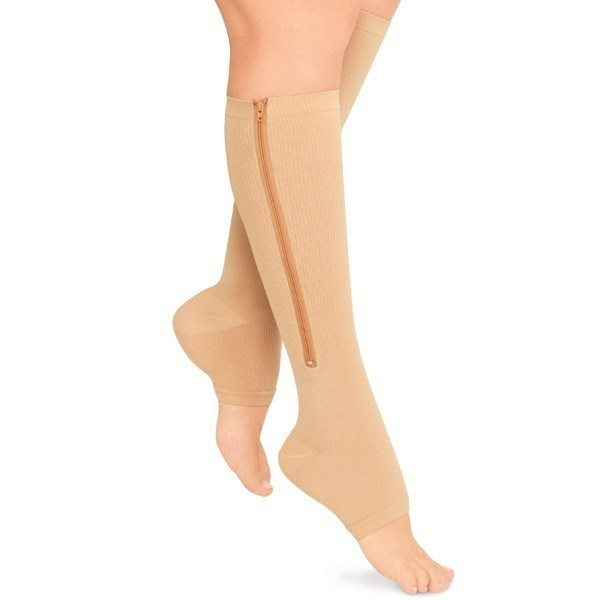 Zippered Compression Stockings (1 Pair)