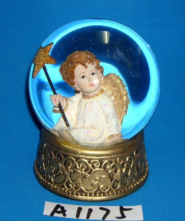 Christmas Decoration Gold Angel Water Globe