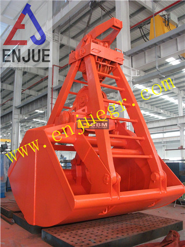 Four or Two Ropes Mechanical Clamshell Grab for Bulk Materials
