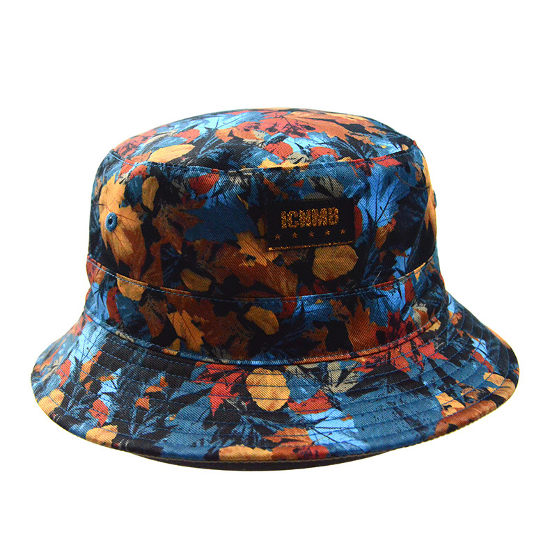 Custom Caps and Hats Polyester Bucket Hat Floral Fishing Cap Lady Hat