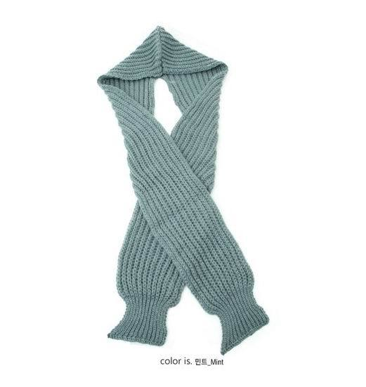 New Design Knitting Scarf with Hood for Winter