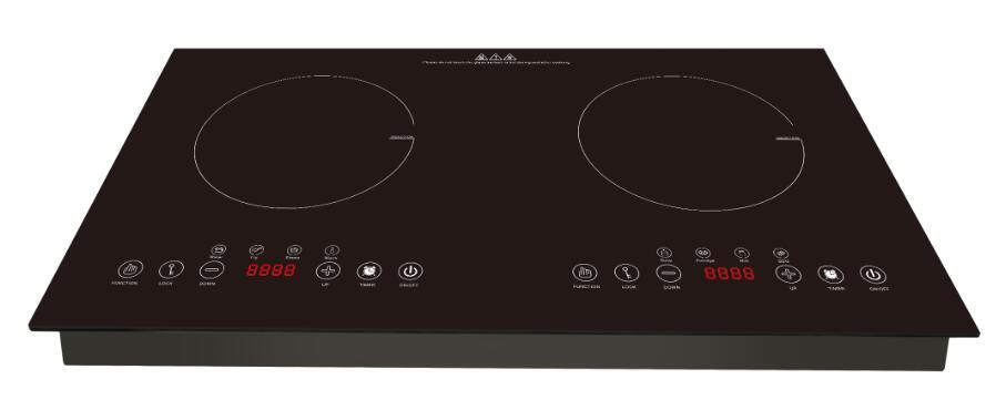 New Arrived Stainless Steel Induction Cooktop with Two Burner