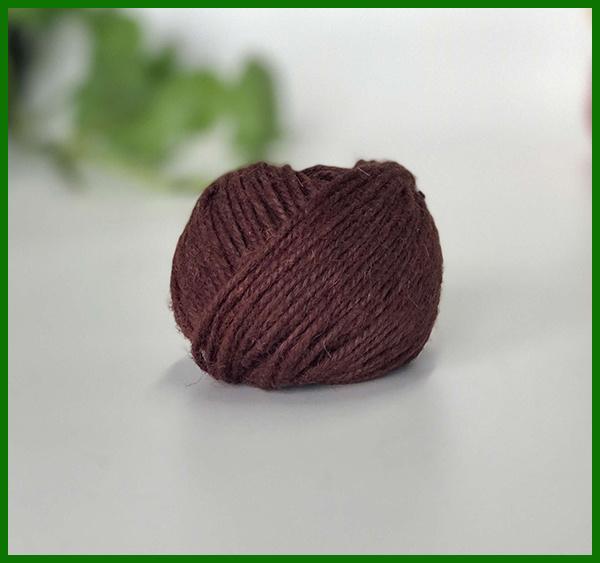 100% Jute Fiber Dyed Yarn (Brown)