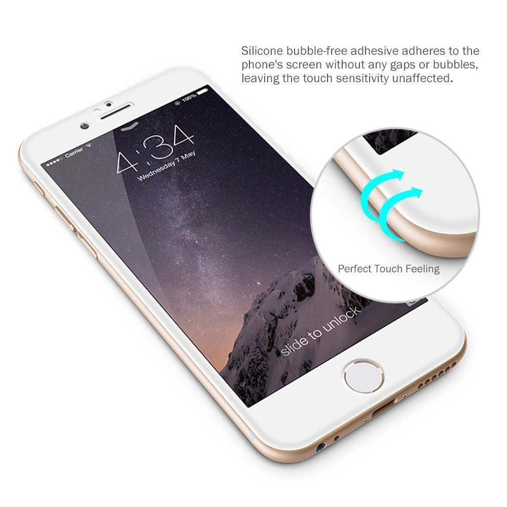 Justvell Tempered Glass Screen Protector for iPhone 6 6s 7
