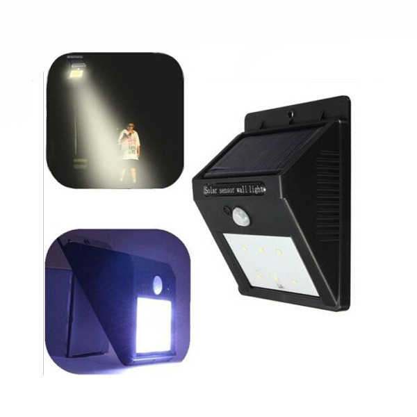 6LED Wall Light Garden Waterproof Solar Power PIR Motion Sensor
