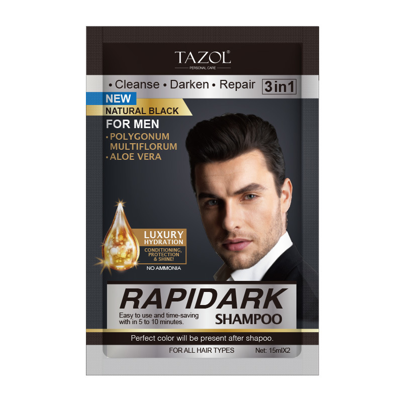 Tazo′l Hair Color Shampoo (Natural Black) (30ml)